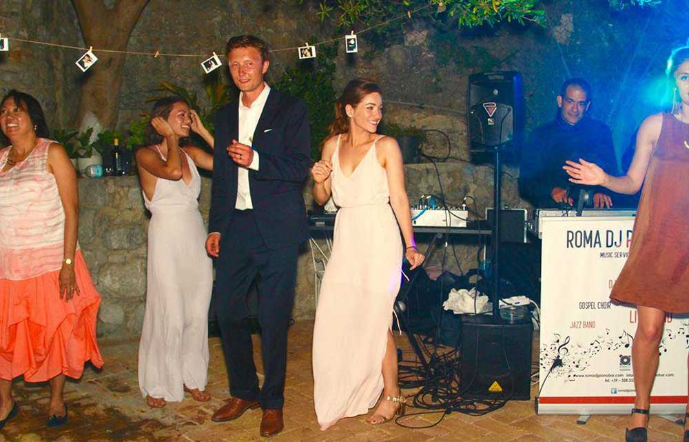 Wedding Luxury in Italy, Cetara, Amalficoast. The party with the Wedding Dj Gianpiero Fatica